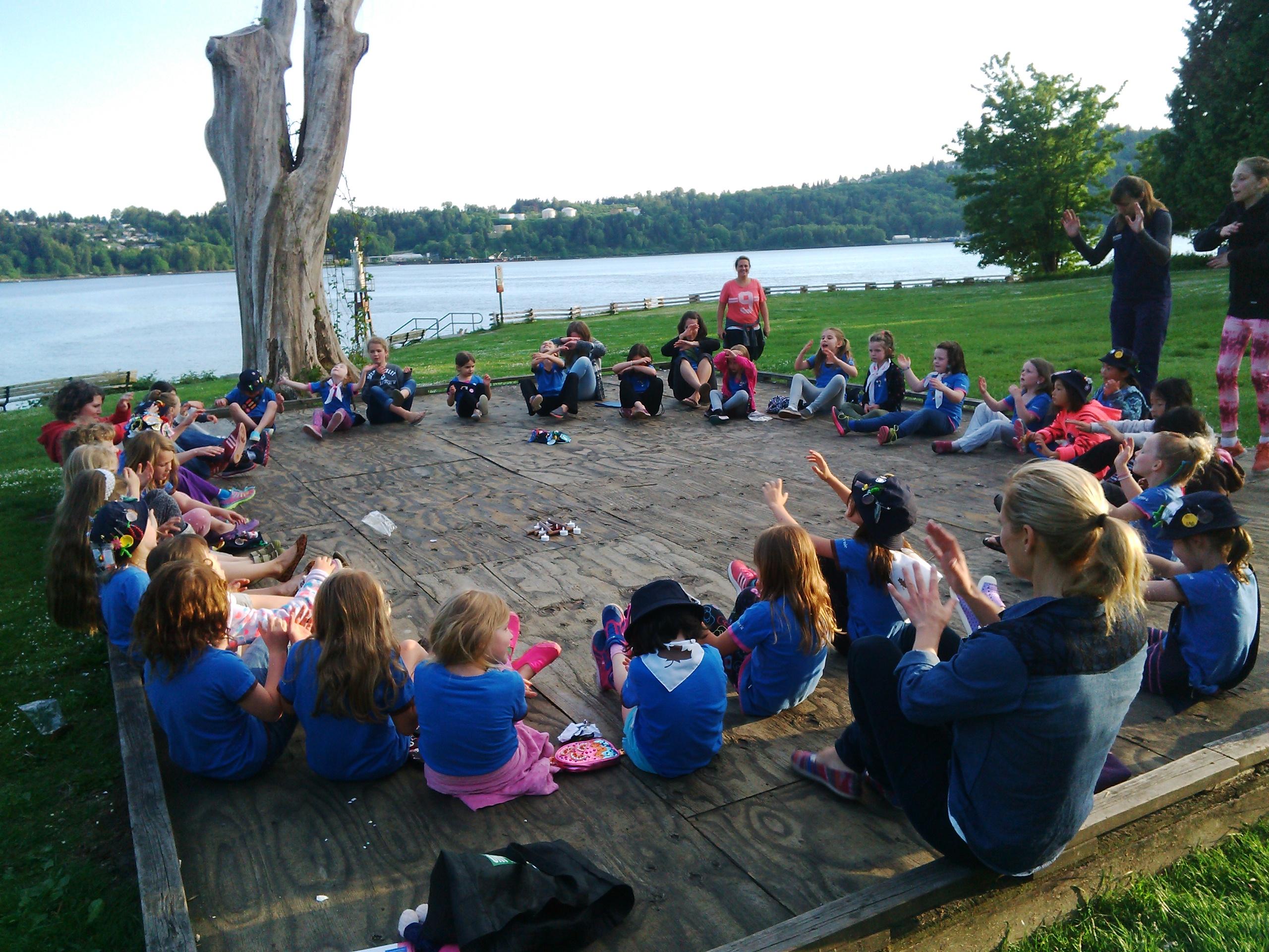 Campfire Cates Park