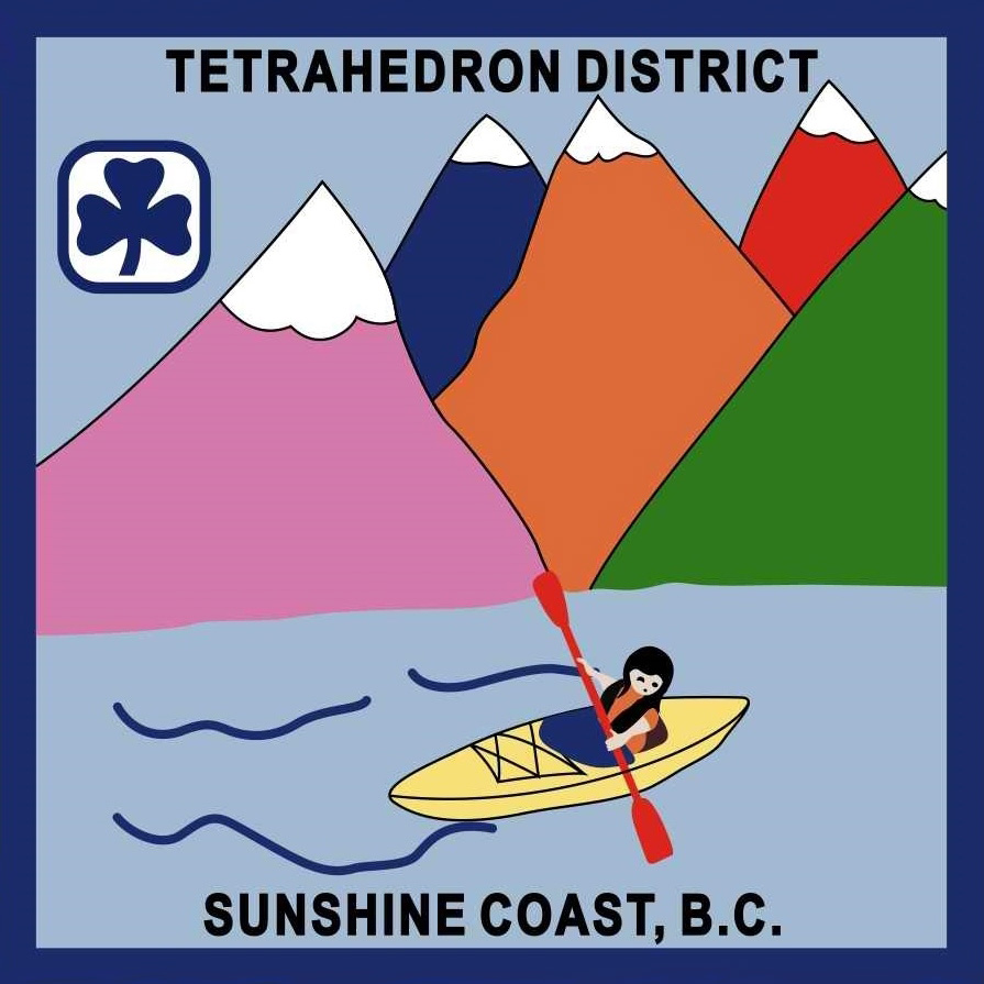 Tetrahedron Girl Guides Crest