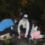 Girl Guides planting Erin's Grove in Lighthouse Park